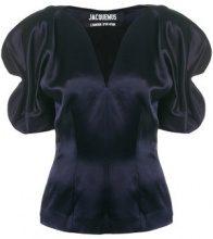 - Jacquemus - Blusa con spalla a palloncino - women - Viscose/Cotton - 40, 36 - Blu