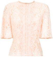 Martha Medeiros - Madeleine lace blouse - women - Viscose/Cotone/Polyamide - 40 - Rosa & viola