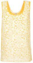 Miu Miu - Canotta con pannello in pizzo - women - Polyester/Silk - 38, 40, 42 - YELLOW & ORANGE