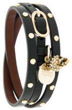 Alexander McQueen - Bracciale con borchie - women - Leather - One Size - Nero
