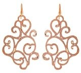 Stroili Gioielli - Orecchini pendenti bronzo placcato oro rosa satinato