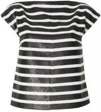 G.V.G.V. - Top a righe - women - Polyester - 34 - BLACK
