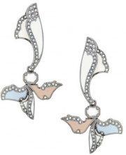 Camila Klein - enamel long earrings - women - Metal (Other) - OS - Metallizzato