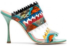 Manolo Blahnik - Sandali 'Arpege 105' - women - Leather/Snake Skin - 36, 37.5, 38, 38.5, 39, 39.5, 37, 40 - Multicolore
