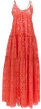 Daizy Shely - Vestito lungo in pizzo sangallo - women - Cotone - 38 - Giallo & arancio