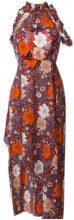 Magda Butrym - Vestito con motivo a fiori - women - Silk - 34, 40 - PINK & PURPLE