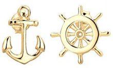 Elli–Orecchini da donna maritim orecchini timone ancora, in argento 925–0301592715
