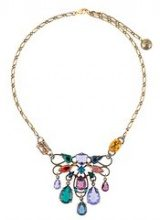 Lanvin - short clustered stone necklace - women - Brass/Peltro/copper/glass - OS - Metallizzato