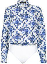 Andrea Marques - shirt style bodysuit - women - Cotone - 42, 44 - unavailable