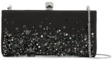 Jimmy Choo - Clutch 'Celeste' - women - Silk/Viscose/Crystal/Satin - One Size - BLACK