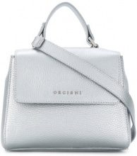 Orciani - Borsa a spalla con logo - women - Leather - OS - Grigio