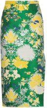 Rochas - Jacquard Lurex Pencil Skirt - women - Silk/Cotton/Polyester - 42, 44, 40 - GREEN