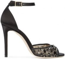 Jimmy Choo - Annie sandals - women - Leather/Polyester - 37, 40, 41 - BLACK