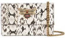 Gucci - Portafoglio con catena 'Queen Margaret' - women - Snake Skin/Brass/Pearls/glass - OS - WHITE