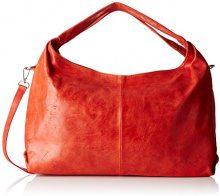 Chicca Borse 80053, Borsa a Tracolla Donna, Rosso, 46x26x10 cm (W x H x L)