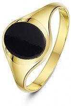 Theia Uomo 9 carati oro giallo Ovale nero Onice