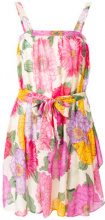 Twin-Set - Vestito con peonie stampate - women - Silk/Cotone - 46 - Color carne & neutri