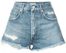 Citizens Of Humanity - distressed denim shorts - women - Cotton - 24, 26, 27, 29, 30, 31 - BLUE