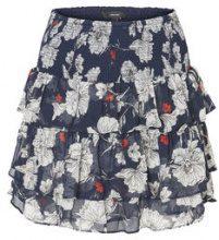 VERO MODA Short Floral Skirt Women Blue