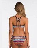 Ninimour Donna 2pcs Costumi da Bagno Tie Dye Stampa Azteca Swimwear