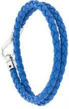 Tod's - Baccialetto intrecciato - men - Leather - OS - BLUE
