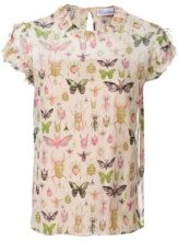 Red Valentino - insect print blouse - women - Silk/Polyester - 40, 42, 44 - PINK & PURPLE