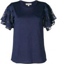 Michael Michael Kors - flared short sleeved blouse - women - Cotone/Polyester/Modal - S, M, L, XL, XS - Blu