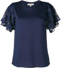 Michael Michael Kors - flared short sleeved blouse - women - Cotton/Polyester/Modal - XS, S, M, L - BLUE