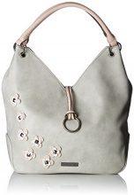 Tamaris Luna Shoulder Bag - Borse a spalla Donna, Grau (Light Grey Comb), 10x44x44 cm (B x H T)