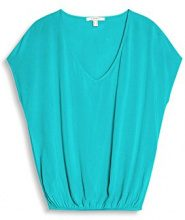 ESPRIT 067ee1f038, Camicia Donna, Turchese (Aqua Green 380), 44