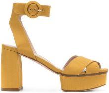 Stuart Weitzman - Carmina platform sandals - women - Leather/Nylon - 4.5, 5.5, 6.5, 7, 8, 9 - YELLOW & ORANGE