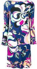 Emilio Pucci - ruffled-cuff printed dress - women - Viscose/Silk - 40 - MULTICOLOUR