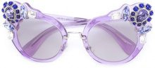 Miu Miu Eyewear - Occhiali da sole cat-eye - women - Acetate/metal - 52 - PINK & PURPLE