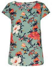 ONLY Printed Short Sleeved Top Women Green