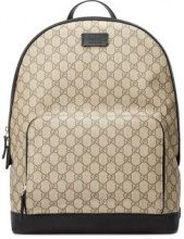 Gucci - GG Supreme backpack - women - Leather/Nylon/Canvas/Microfibre - One Size - Color carne & neutri