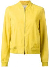 Herno - leather bomber jacket - women - Cotton/Elastodiene/Polyamide/Goat Suede - 42 - GREEN