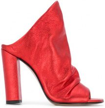 Marc Ellis - Sandali senza lacci strutturati - women - Leather - 37, 38, 39, 40 - RED