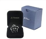 Le Premium® - elegante nero placcato oro rosa bianco anello moda (dimensioni anello fisso 11.5)