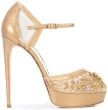 Marchesa - Darcy embellished pumps - women - Leather/Nappa Leather/Nylon - 37.5, 38.5, 39.5, 40.5 - Metallizzato