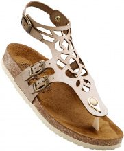 Sandalo in pelle comodo (Beige) - bpc selection