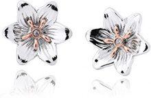 Orecchini a bottone di Diamante Lady Snowdon Clogau