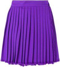 Versace Vintage - pleated mini envelope skirt - women - Wool - 40 - PINK & PURPLE