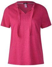 Cecil 312118, T-Shirt Donna, Pink (Galaxy Pink Melange 11369), S