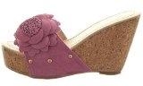 Sopily - Scarpe da Moda sandali Zeppe alla caviglia donna fiori borchiati Tacco zeppa piattaforma 10 CM - Rosa