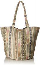 PIECES Pcdorea Shopper - Borse a spalla Donna, Grigio (Pumice Stone), 33x39x59 cm (B x H T)