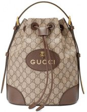 Gucci - GG Supreme backpack - women - Canvas/Cotone/Leather/Polyester - One Size - Marrone