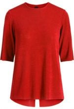 Y.A.S Back Slit Blouse Women Red
