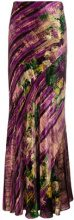 Alberta Ferretti - Gonna lunga a fantasia astratta - women - Silk/Acetate/Cupro/Viscose - 38, 40 - PINK & PURPLE