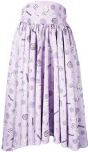 Olympia Le-Tan - Gonna stampata 'Frances' - women - Polyester - 40 - PINK & PURPLE