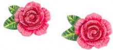 Dolce & Gabbana - rose clip-on earring - women - Resin/Brass - One Size - PINK & PURPLE